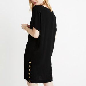 Madewell Side-Button Easy Dress black S